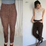 Retro Leopard Print Pants – thrifted, cuffed & refashioned