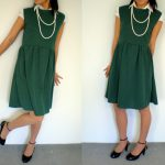 Dress made from 80′s Japanese Sewing Pattern