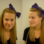 Giant Purple Bow Fabric Headband