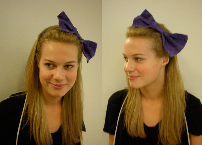 DIY Bow Headband | Learn how to make this cute and easy headband. You only need a some scrap bits of fabric and 20 minutes!