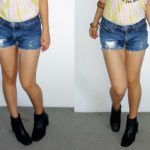 DIY Denim Cutoffs from Thrifted Jeans