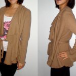Burdastyle Karen draped cardigan in ribbed knit fabric
