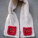 Knitting a Gift – Childrens Apple Pocket Scarf
