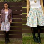 Japanese Sewing Pattern – Vintage Floral Skirt