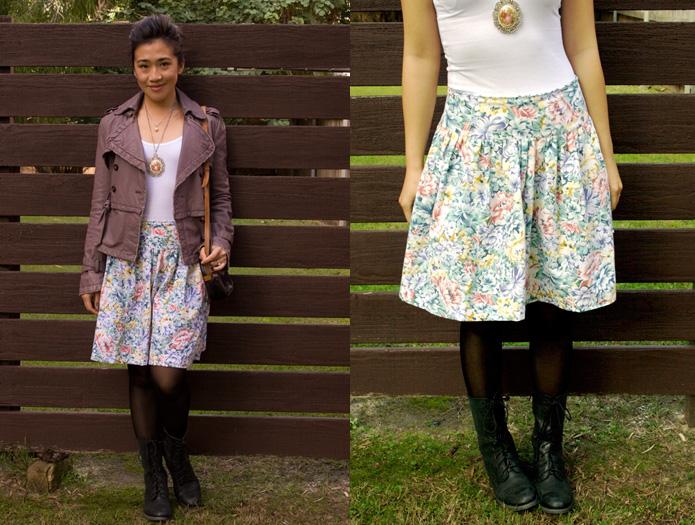 Japanese Sewing Pattern Vintage Floral Skirt Sew In Love