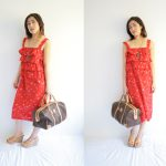 Red Summer Dress from Japanese Sewing Pattern