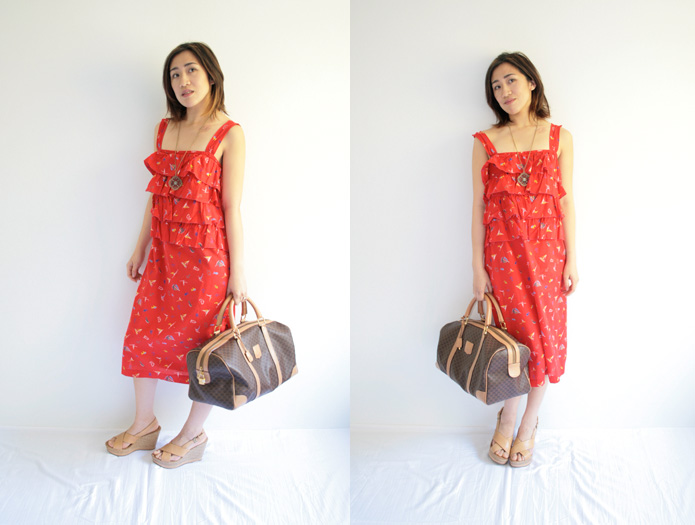 Red Summer Dress from Japanese Sewing Pattern Sew in Love