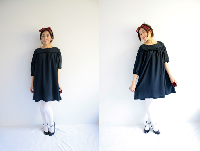 Japanese-sewing-pattern-smock-dress-stylish-dress-book-2