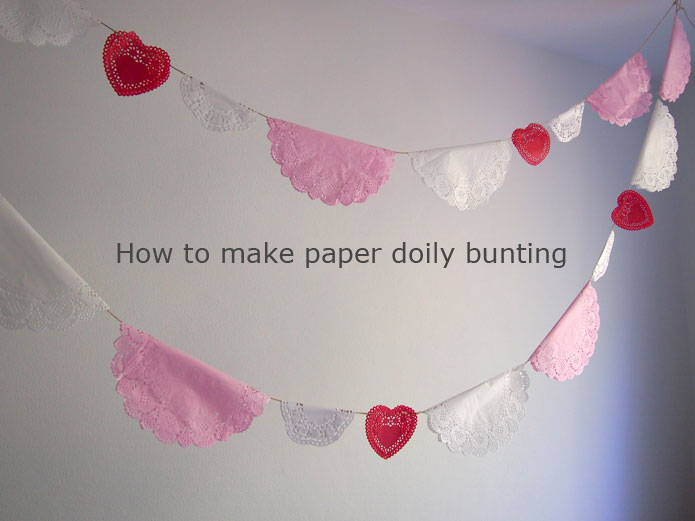 how to make paper doily bunting