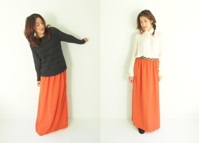 Long maxi chiffon skirt pattern free