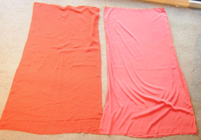 Long maxi chiffon skirt pattern tutorial 1