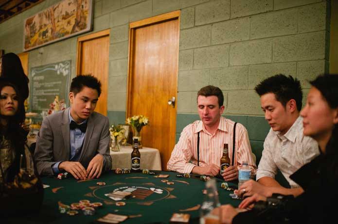 Vintage wedding poker table