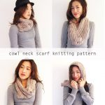 Free knitting pattern: Cowl neck convertible scarf