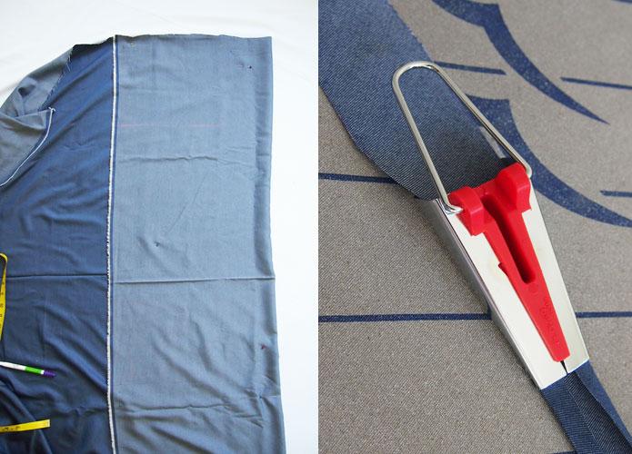 Denim Smock Dress Free Japanese Sewing Pattern Bias Binding