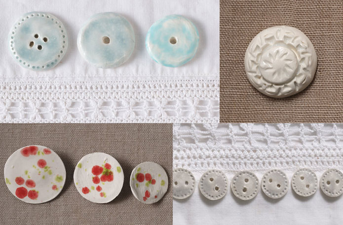 Handmade ceramic buttons giveaway free