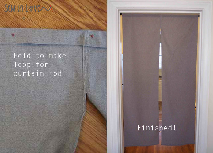How to make Noren: Japanese room divider partition curtains のれんの ...