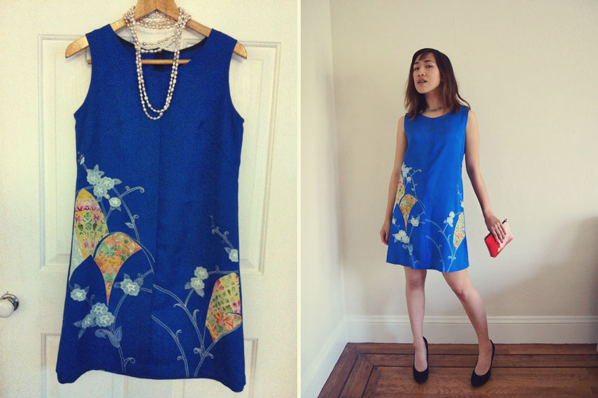 Vintage Kimono Dress - This dress is made from a vintage kimono. It's great way to keep wearing these beautiful fabrics!