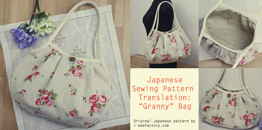 Guest post: Free tote bag sewing pattern & tutorial - グラニーバッグ ...