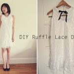 Free Pattern: How to make a ruffle lace dress – ワンピース作り方