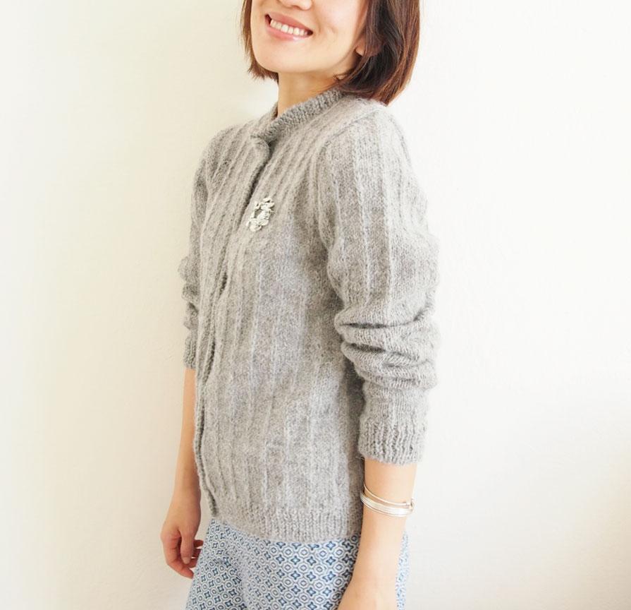 Cardigan-knitting-pattern-beginners-カーディガン編み図