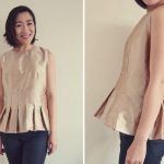 How to make a peplum top from a dress sewing pattern – ペプラムトップス
