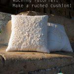 Ruching Tutorial – Make a ruched cushion! ギャザーのよせ方 {Guest Post}