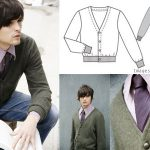 Burdastyle Mens Cardigan Andrew – Sew Along for Valentine's Day