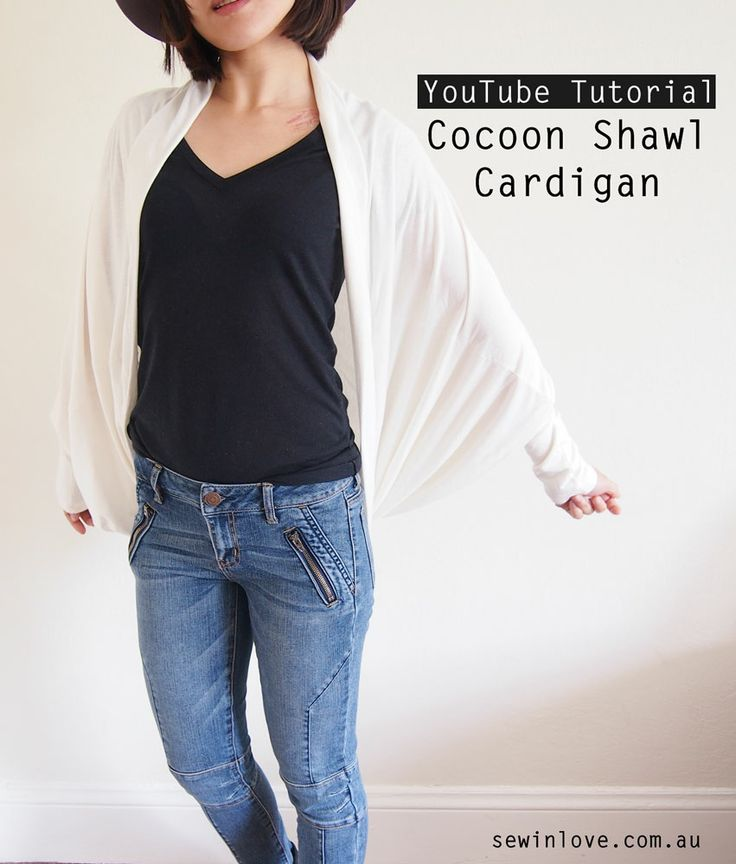 Cocoon Cardigan - Free Sewing Pattern & Tutorial Video - Sew in Love