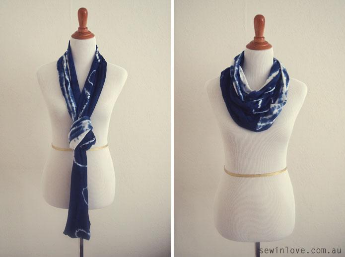Shibori-Tie-Dye-Circular-Scarf-How-to-tie-1