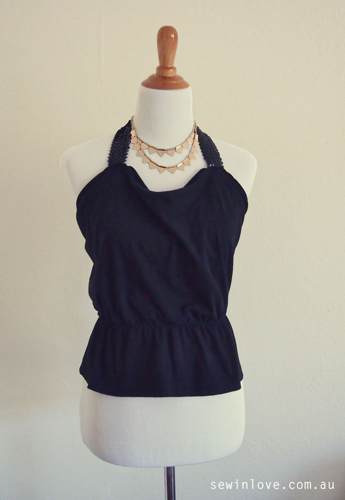 DIY-Tshirt-to-Cute-Halter-Top-Refashion-Pinterest
