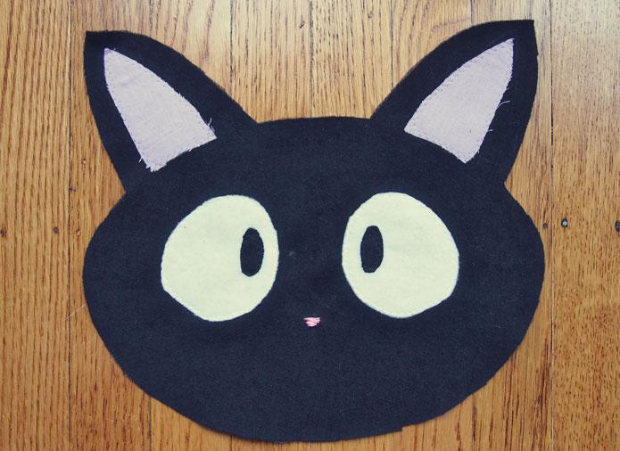 Ghibli jiji cat purse sewing pattern face applique sew in love