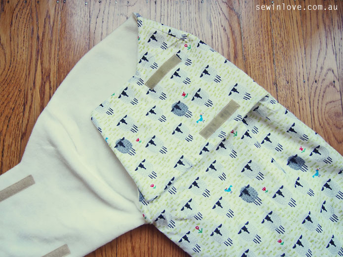 Free Sewing Pattern Review: Snuggler baby swaddle wrap - Sew in Love