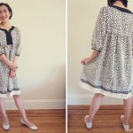 Japanese Sewing Pattern Stylish Dress Book 1: Dress T – Finished!