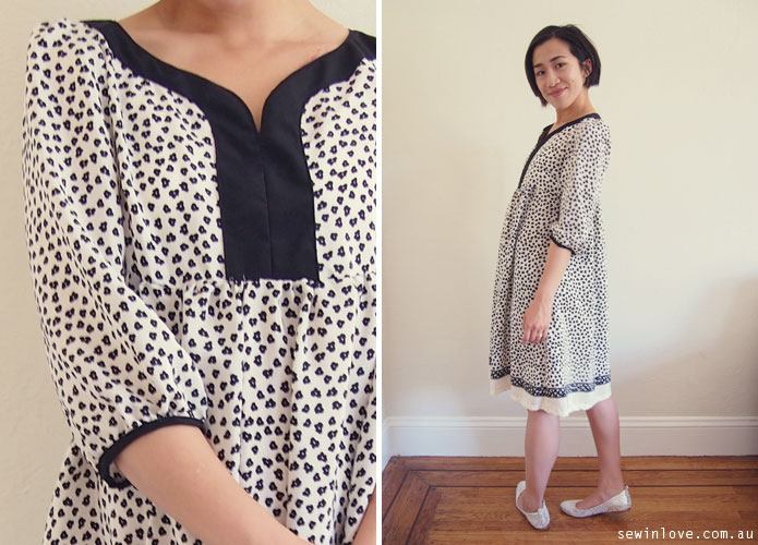 Japanese-Sewing-Pattern-Stylish-Dress-Book-Silk-Floral-Dress-Landscape-3