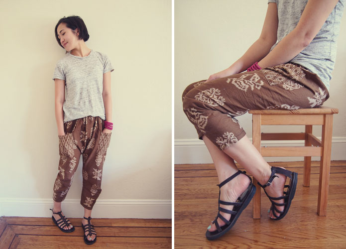 Japanese-sewing-pattern-batik-harem-pants-happy-homemade-sew-chic-Cover