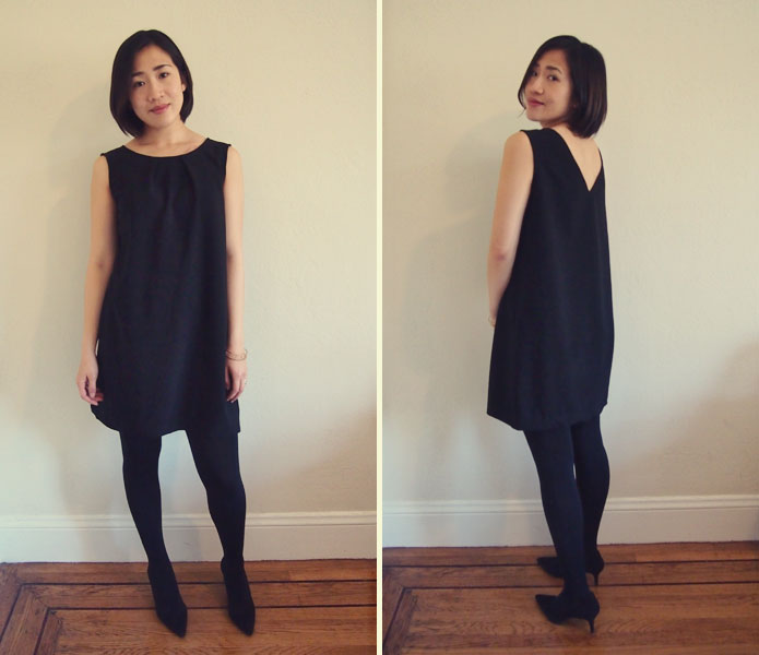 Free Sewing Pattern: Reversible V-neck and Crewneck Shift Dress ...