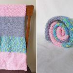 Easy Baby Crochet Blanket for Beginners – Color Block Version