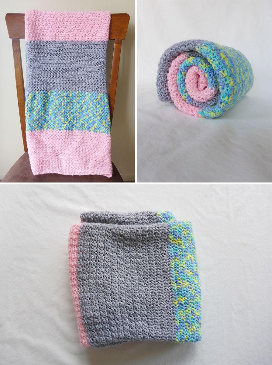 Easy Baby Crochet Blanket For Beginners Color Block