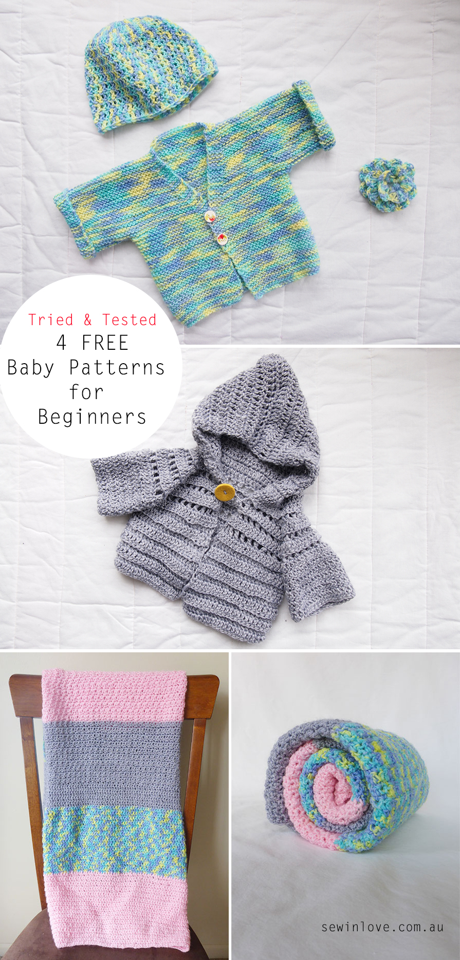 Free Knitting Patterns For Baby Sweaters Beginners : Tried and Tested: Free baby knitting and crochet patterns for beginners - Sew...