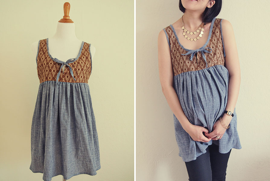 Cute Maternity And Nursing Babydoll Top Japanese Sewing Pattern