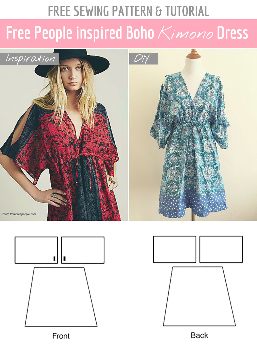 Free Sewing Pattern Tutorial Free People Inspired