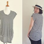 DIY striped tunic top for pregnancy and beyond: Free Sewing Pattern