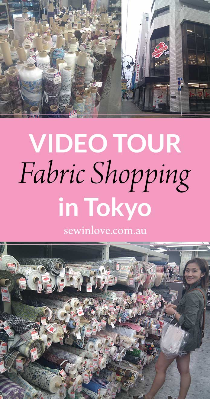 Come with me fabric shopping in Japan! Tokyo's Nippori Textile Town is a must visit for any craft enthusiast. Here you'll find all your fave Japanese fabrics, like cotton lawn and double gauze. There's also rows and rows of craft stores where you can overdose on every sewing equipment you could ever need!
