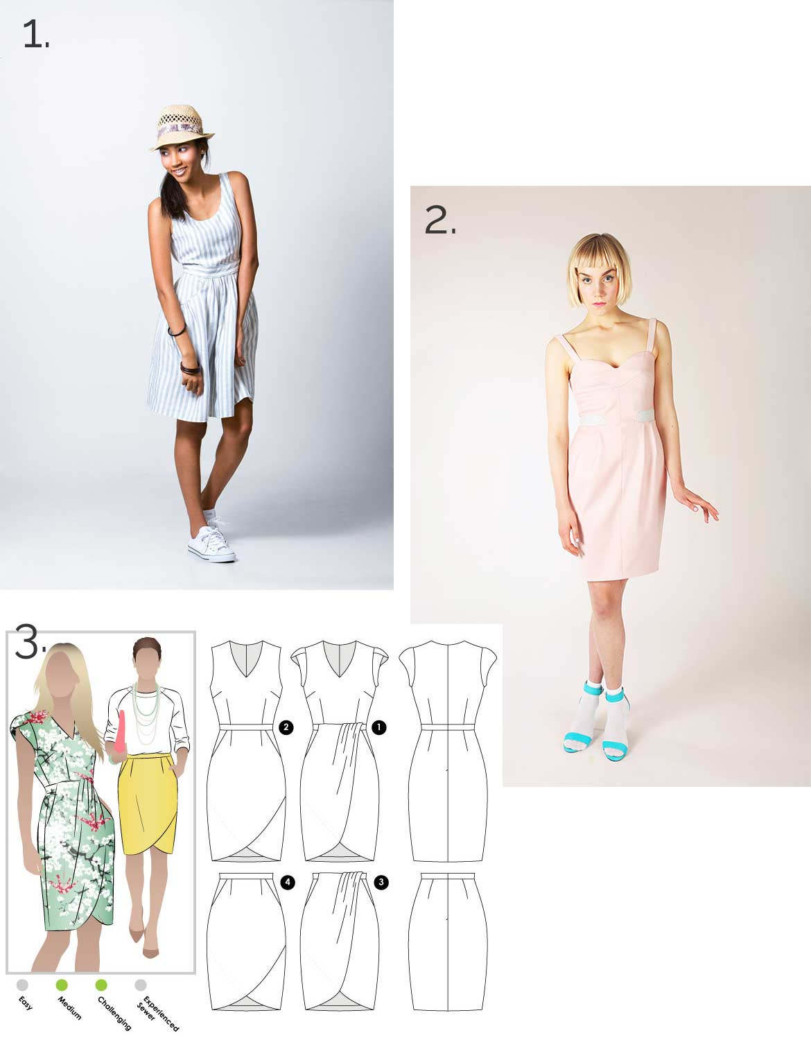 Sewing Inspirations | These dress sewing patterns would be perfect to add a front zipper.
