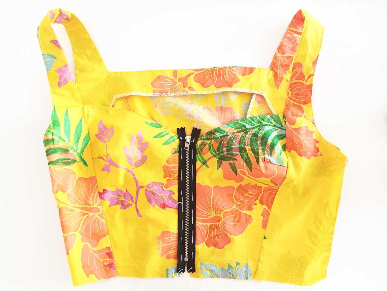 Make-Front-Zipper-Dress-Step3