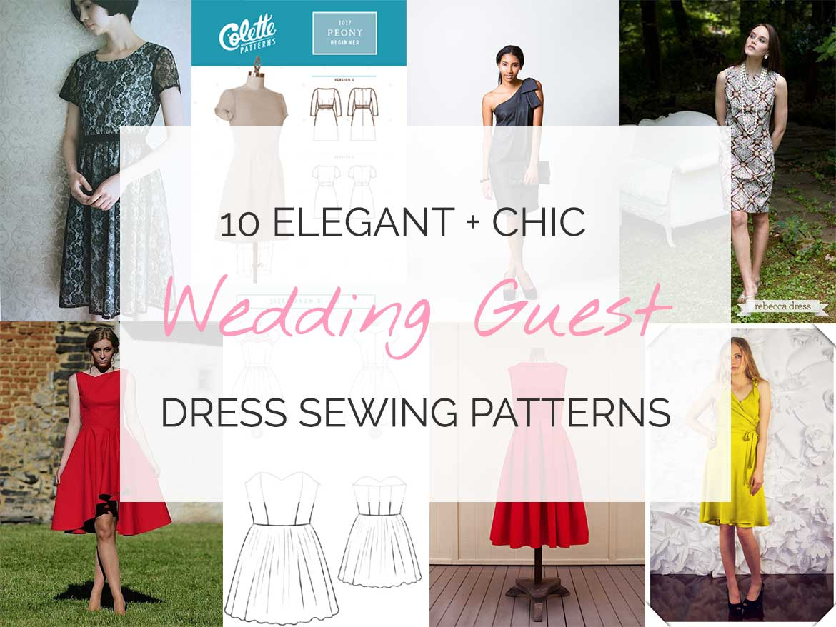 10 Wedding Guest Dresses Sewing Patterns - There's nothing quite like a wedding to get the motivation you need to sew something special to wear. 3 out of 10 of these gorgeous sewing patterns are free online!
