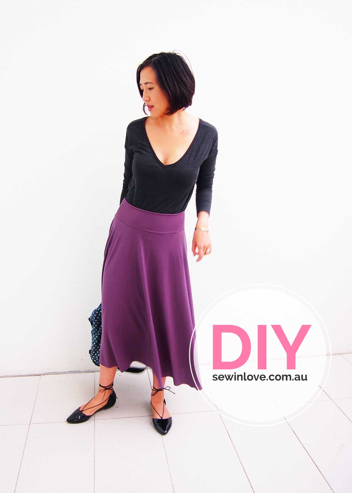 How to make a skirt in one day easy half circle skirt sew in love diy circle skirt how to make an easy half circle skirt this yoga skirt bankloansurffo Image collections
