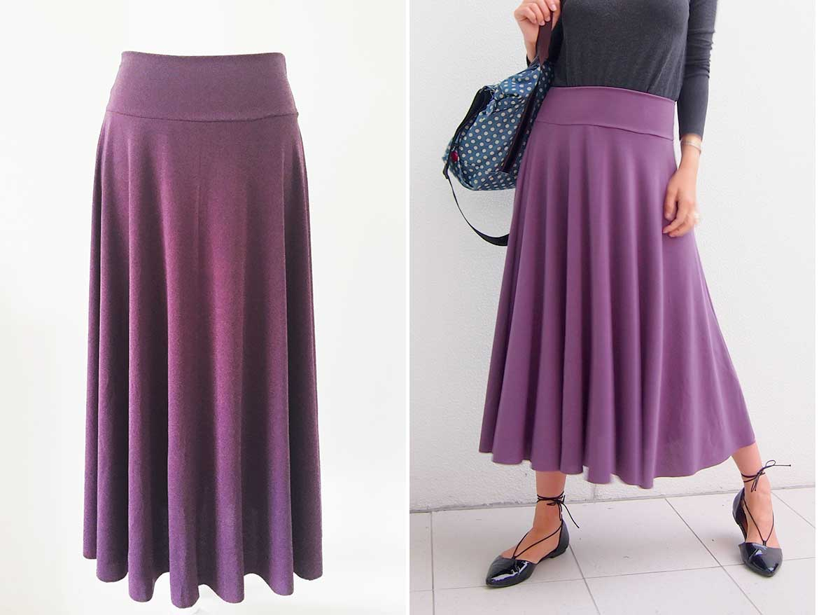DIY Circle Skirt | How to make an easy half circle skirt. This yoga skirt is extremely comfortable and looks great with flats.