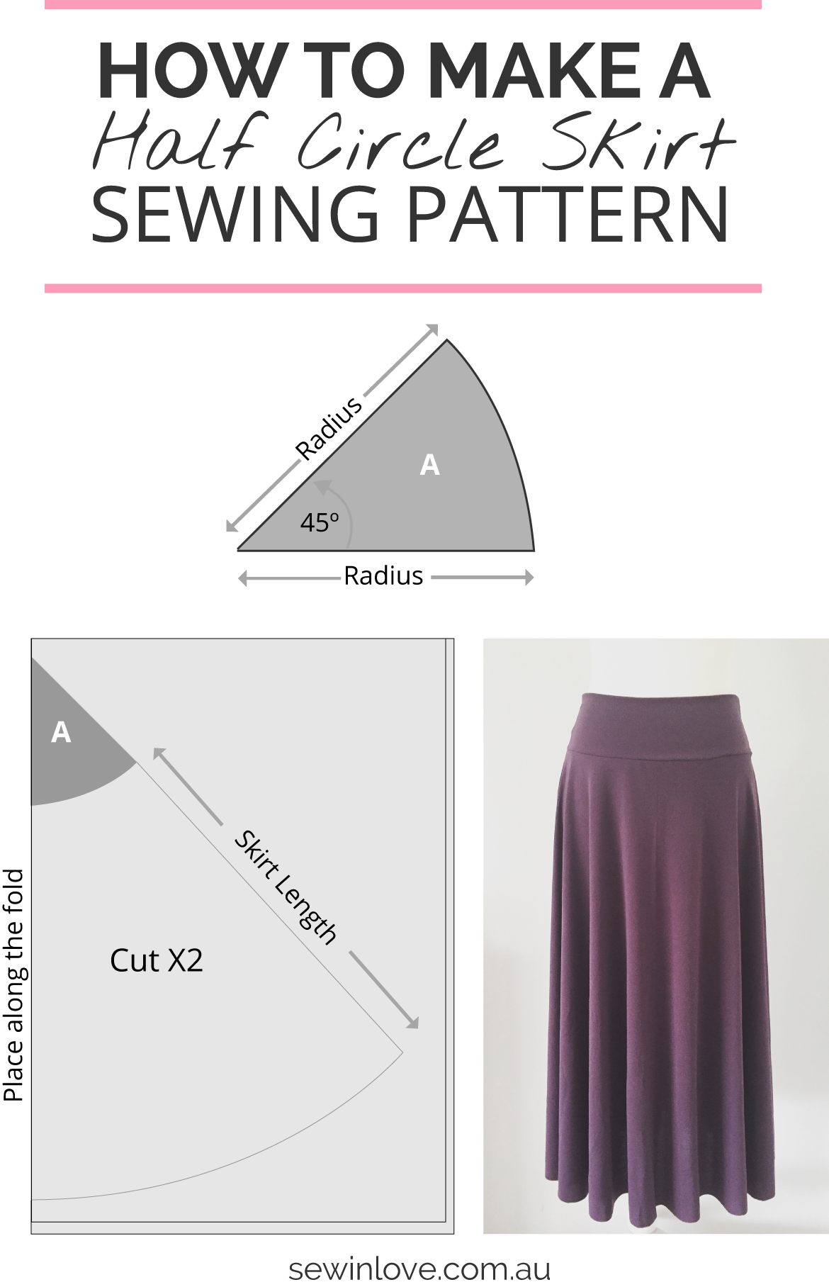 How to make a skirt in one day easy half circle skirt sew in love how to make a skirt learn how to make this simple skirt sewing pattern jeuxipadfo Gallery