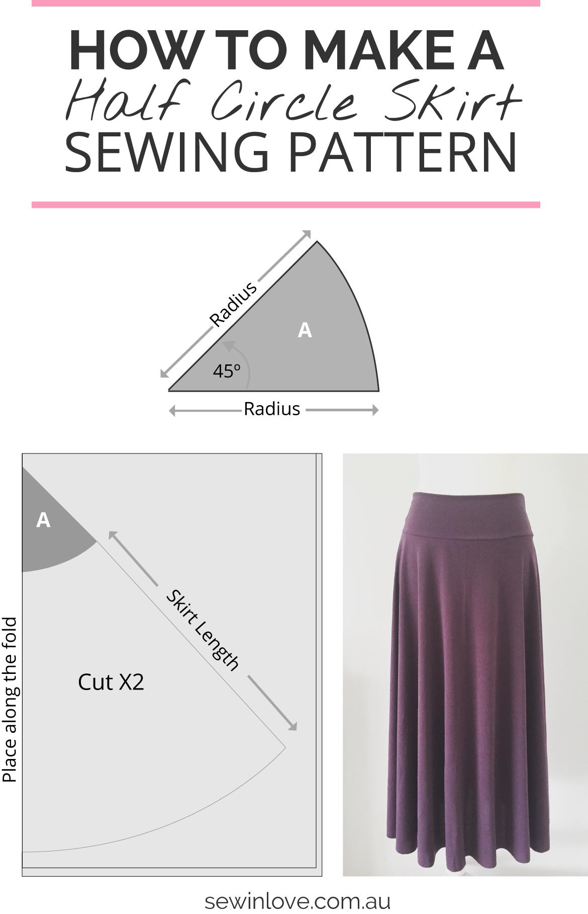 كيف اصنع التنورة |  تعلم كيفية جعل هذا بسيط نمط تنورة الخياطة.  من خلال النقر على خيط في الحب لتعليمات والمزيد من الصور تنورة!